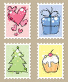 Briefmarken — Stockvektor