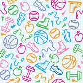 Patrón de deporte — Vector de stock