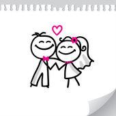 Casal de noivos — Vetorial Stock