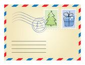 Xmas envelope — Stock Vector