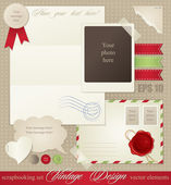 Vintage scrapbook elements — Stock Vector