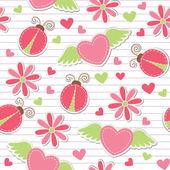 かわいいロマンチックなシームレス パターン — ストックベクタ