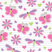 Cute romantic seamless pattern — Stock Vector