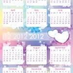 Calendar 2012 — Stock Vector #7478060