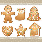 Set of gingerbread — 图库矢量图片