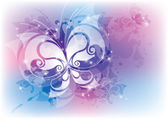 Abstract with butterfly — Stock Vector