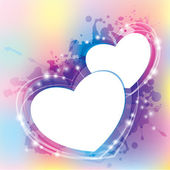 Abstract with hearts — Stock Vector