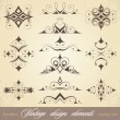 vintage elements — Stock Vector