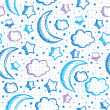 Pattern with night sky — Vector de stock #7959597