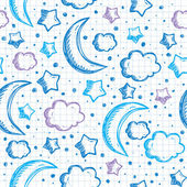 Pattern with night sky — Stock vektor