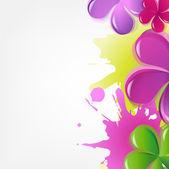 抽象的な花 — ストックベクタ