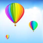 Bunte heißluftballons — Stockvektor
