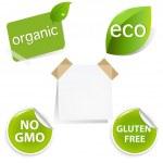 Eco Labels Set — Stock Vector #7400747