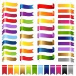 Color Set Web Ribbons — Stock Vector