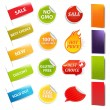 Stock Vector: Sale Stickers And Labels