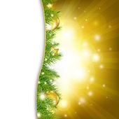 Золото Новогодняя открытка — Cтоковый вектор