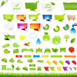 Stock Vector: Eco Collection Design Elements