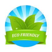 Eco friendly étiquette — Vecteur