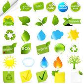 Eco Symbols Set — Stock Vector