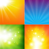 Fondo abstracto color sunburst — Vector de stock