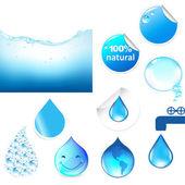 Water Symbols Set — Stock Vector