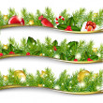 Christmas Garland Set — Stock Vector