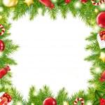 Christmas Tree Border — Stock Vector