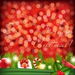 Christmas Background With Garland — Imagen vectorial