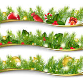 Christmas Garland Set — Stock Vector