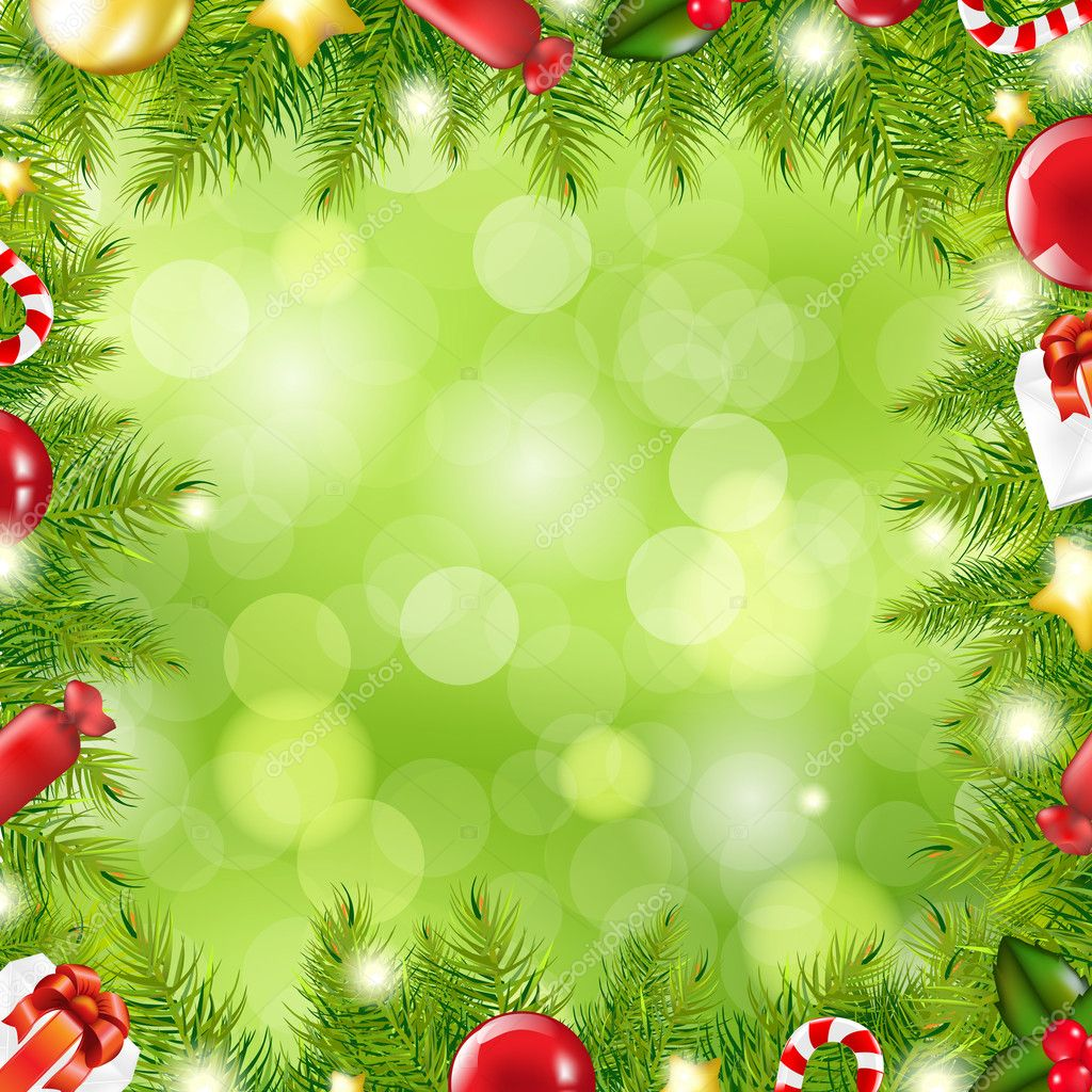 Christmas Tree Border With Blur Stock Vector 169 Barbaliss