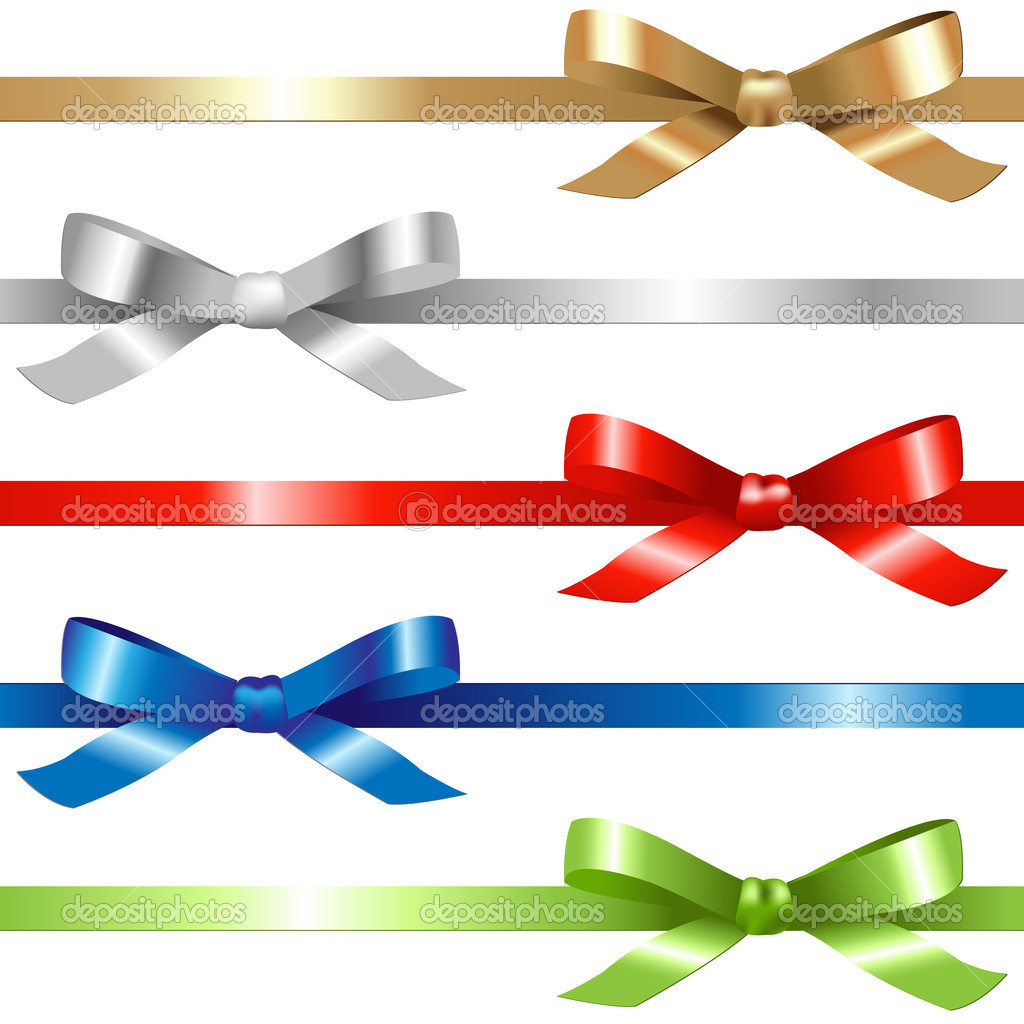 5 Ribbons,  Isolated On White Background, Vector Illustration  Stock Vector #7948390