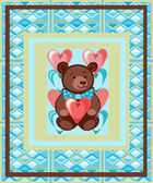 Postcard to Valentine's Day — Stockvektor