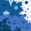 Stock vektor: Background with snowflakes