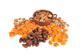 Dried fruits on a table — Stock Photo