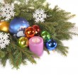 Branches ate with toys and candles — Stock Photo #7687477