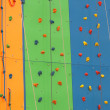 Training climbing wall in different colors and diff — 图库照片 #6926243
