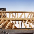 Royalty-Free Stock Photo: Construction of the wooden frame of a roof