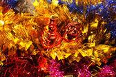 Věnce a dekorace na vánoce a nový rok — Stock fotografie