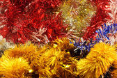 Garlands and decorations for Christmas and New Year — Stock Photo