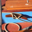 Details of old fishing boat sailing out of wood — Stock Photo #7905226
