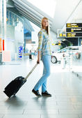 Girl with a suitcase — Fotografia Stock