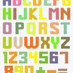 Постер, плакат: Color latin alphabet