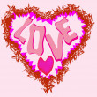 Royalty-Free Stock Imagen vectorial: Pink heart