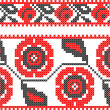 Two seamless embroidered good like handmade cross-stitch - Stok Vektör