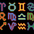 Vector set of zodiac symbols - Stock vektor