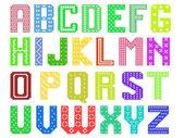 色のラテン系のアルファベット — ストックベクタ