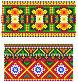 Two embroidered goods like handmade cross-stitch — Stock Vector