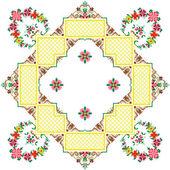 Embroidered serviette — Stock Vector