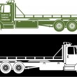 Flat bed tow truck — Stock Vector