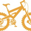 Simplified mountain bike - Stock Vector